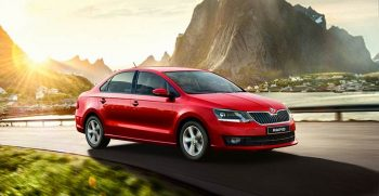 New Skoda Rapid 1.0 TSI Rider Front picture on red